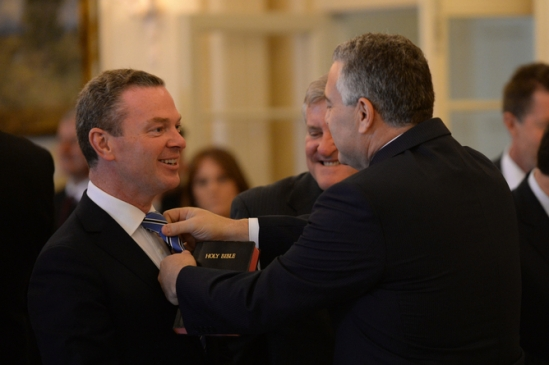 NEW GOVERNMENT SWEARING IN