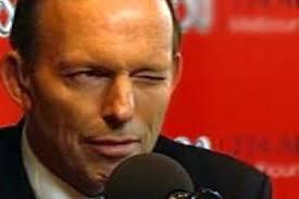 Tony Abbott's wink