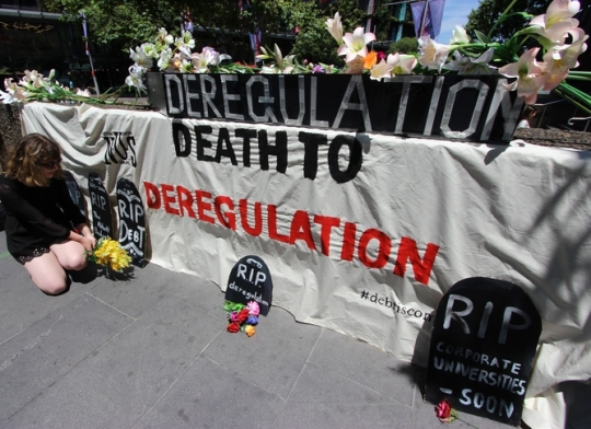 AUSTRALIA - UNIVERSITY OF TECHNOLOGY SYDNEY PROTEST